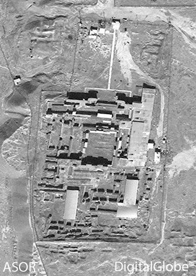 A) Nimrud, Acropolis, no recent damage visible (DigitalGlobe; taken February 26, 2015)