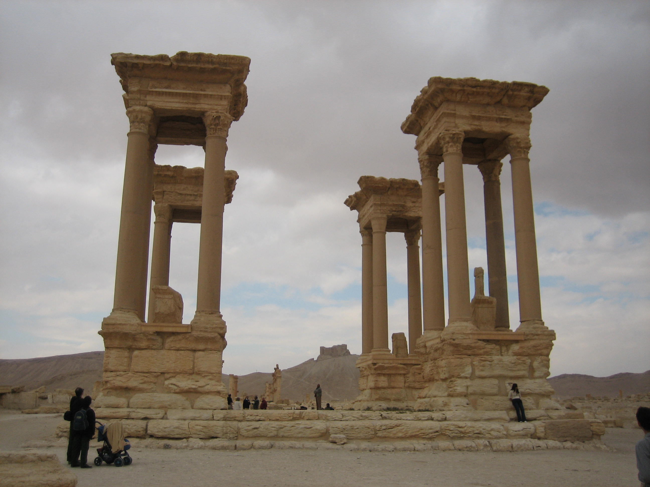 Figure 3: Palmyra, tetrapylon (photo by Tate Paulette, 2005)