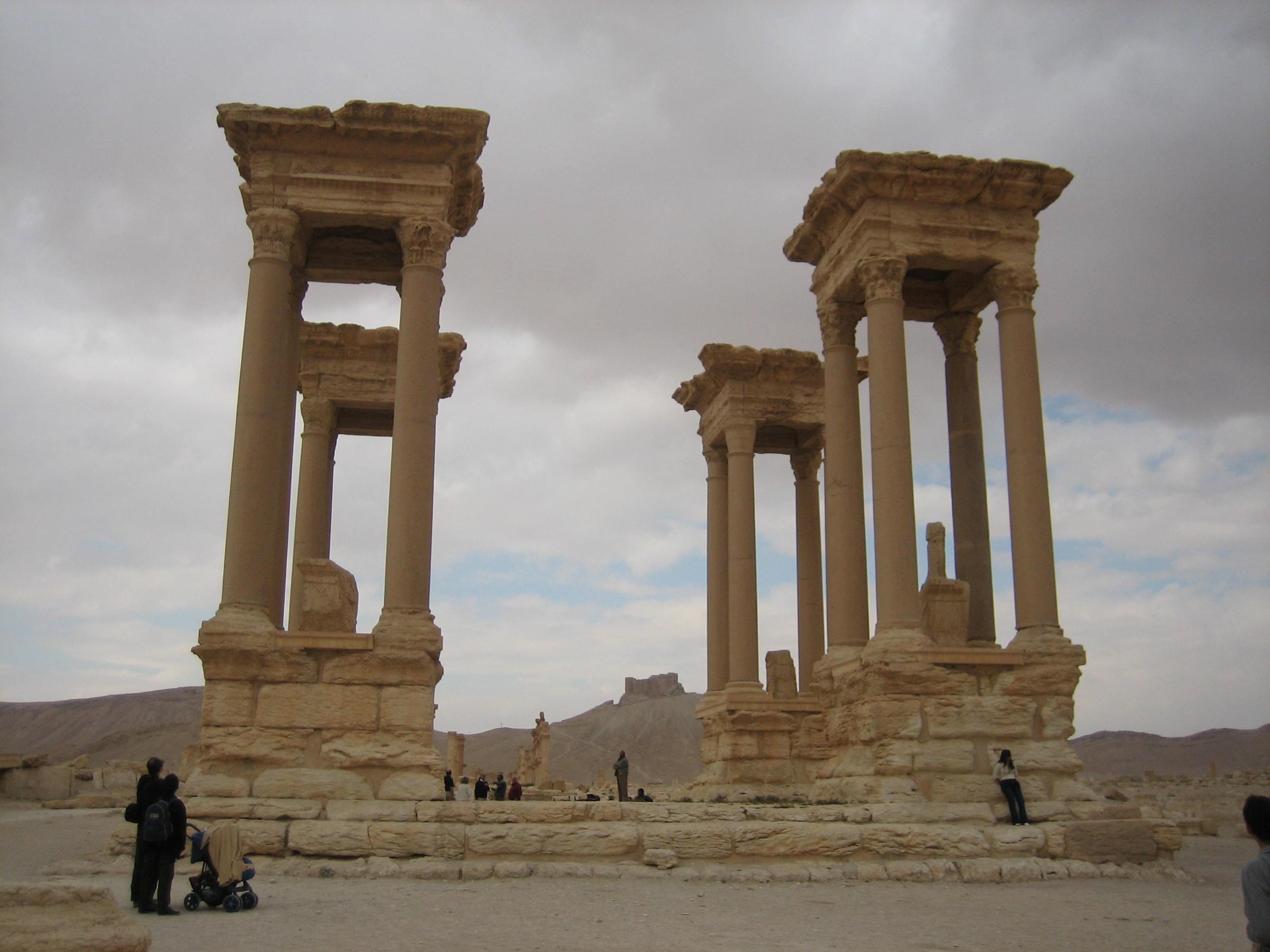 Figure 3: Palmyra, tetrapylon (photo by Tate Paulette, 2005)