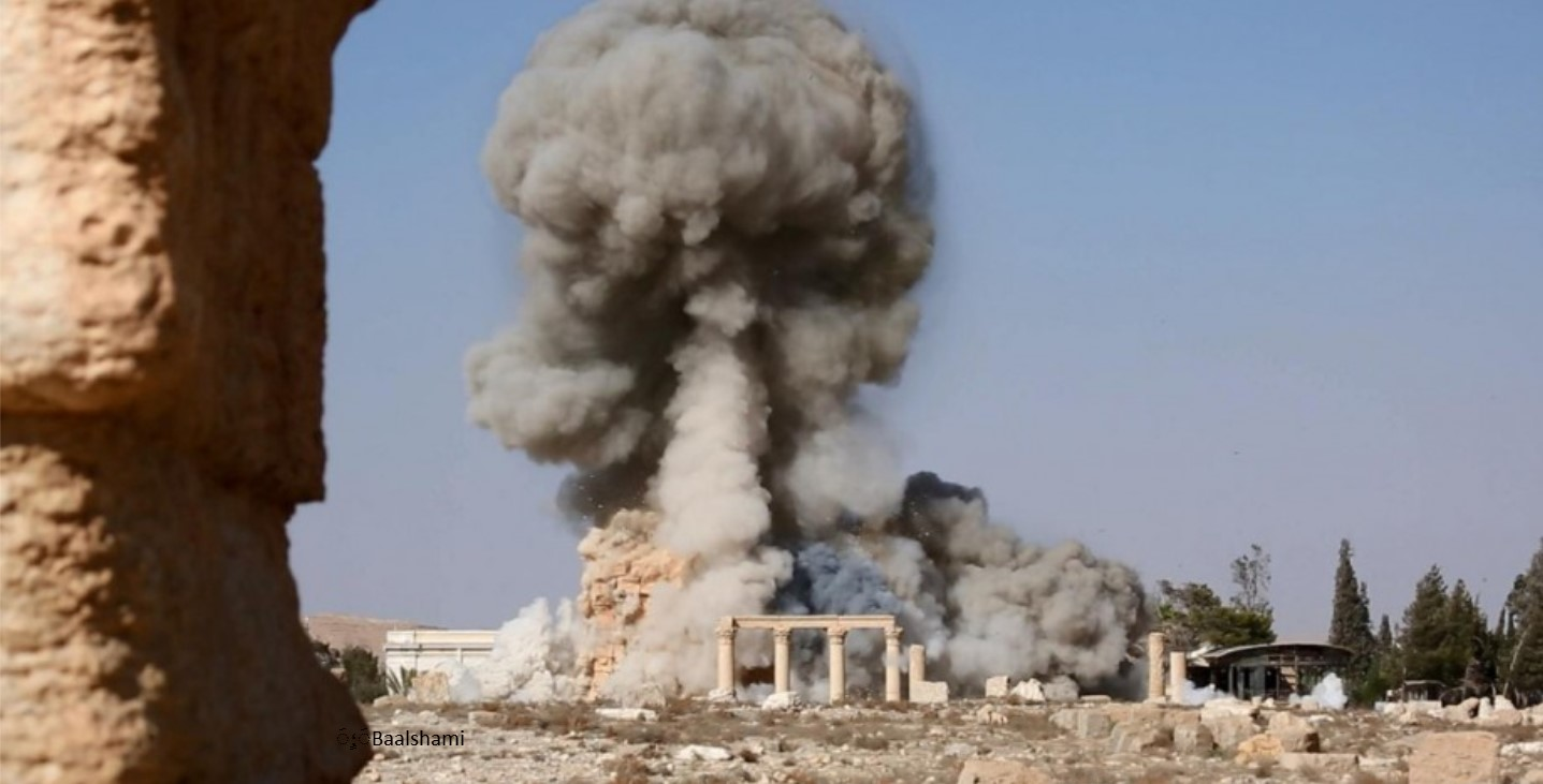 Figure 14: Destruction of the Baalshamin Temple (ISIL social media; August 24, 2015)