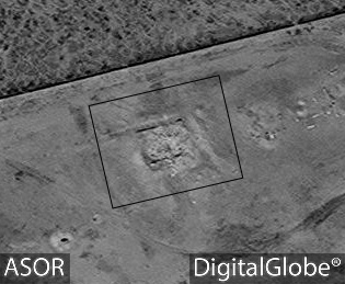 Figure 22. Funerary Temple S103. After destruction (DigitalGlobe; March 30, 2016)