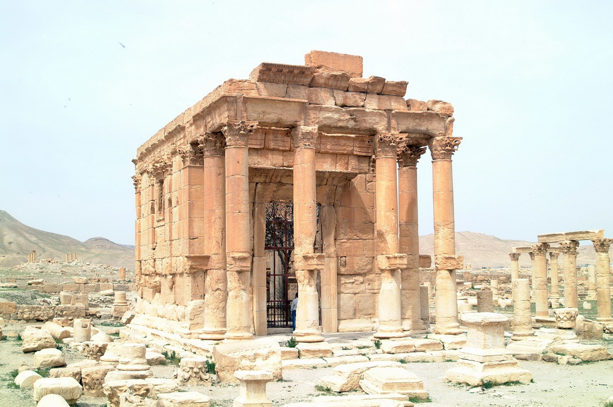 Figure 33. Baalshamin Temple before its destruction (DGAM; August 24, 2015)