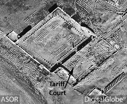 Figure 51. The Tariff Court via satellite imagery (DigitalGlobe; March 1, 2015)