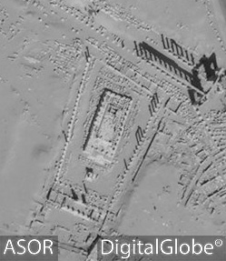 Figure 53. The Temple of Nabu via satellite imagery (DigitalGlobe; September 19, 2009)