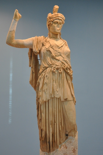 Figure 69. The statue of Athena prior to damage (Livuis.org; Date Unknown).